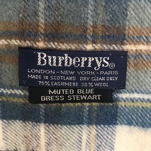 Vtg Burberry for Stuart Tartan scarf unisex